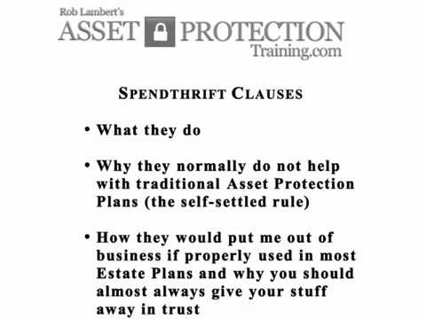 Spendthrift Clause Example