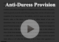 Anti Duress Provision