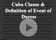 Cuba Clause Definition Duress