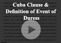 Cuba Clause Definition Duress