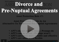 Divorce Pre-Nuptual Agreements