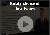 Entity choice law issues