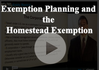 Exemption Planning Homestead Exemption