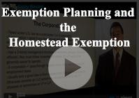 Exemption Planning Homestead Exemption