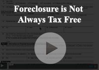 Foreclosure Not Tax Free
