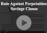 Rule Against Perpetuity Savings Clause