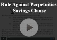 Rule Against Perpetuity Savings Clause