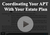 coordinating your asset protection trust with estate